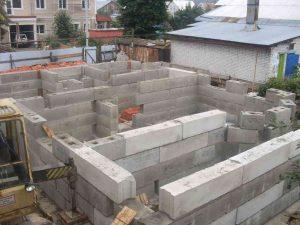 строительство фундамента из фбс